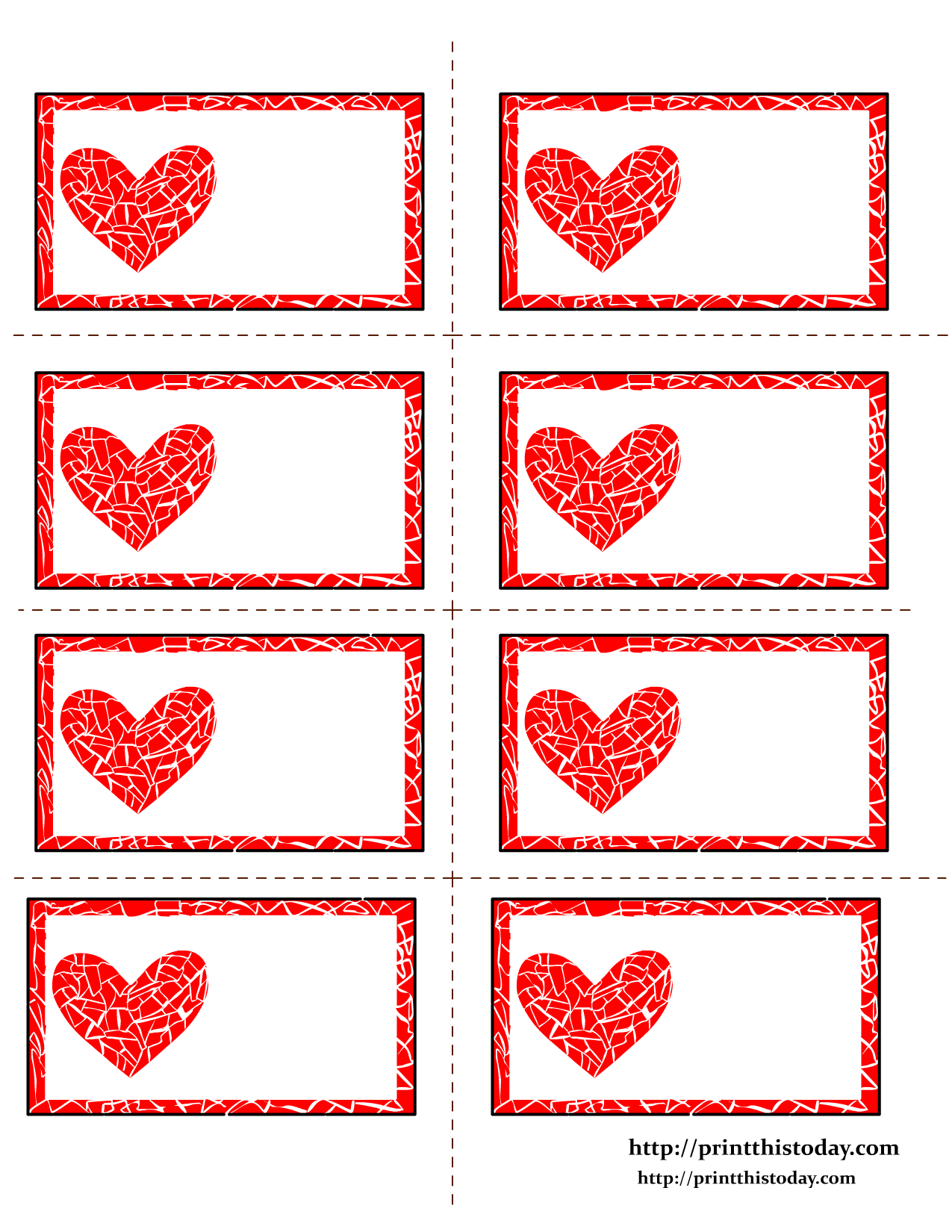 Free Valentine's Day Labels