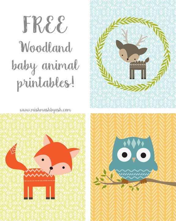 Free Woodland Animal Nursery Printables