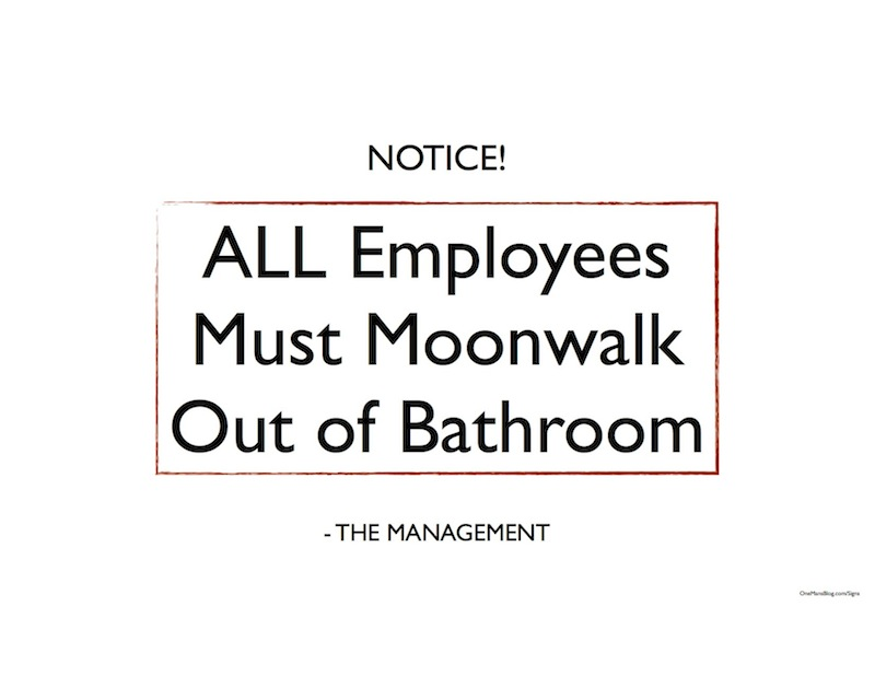 Funny Employees Only Sign Printable