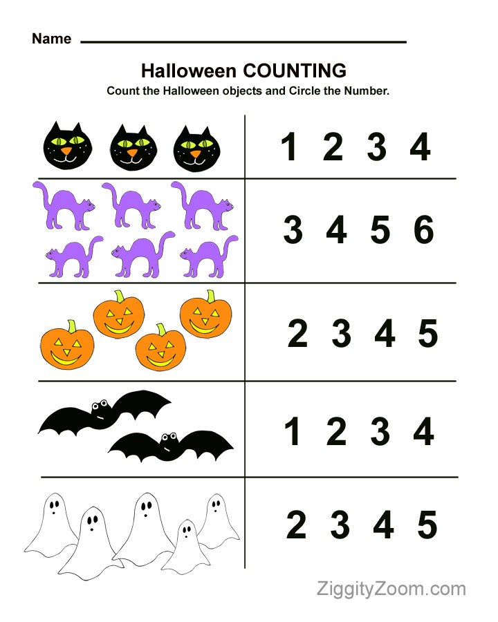 Free Printable Pre K Math Worksheets : Pre k counting worksheets number animal