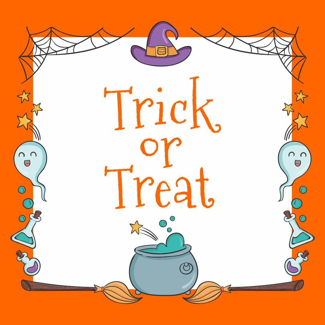 Halloween Trick or Treat Sign Printable