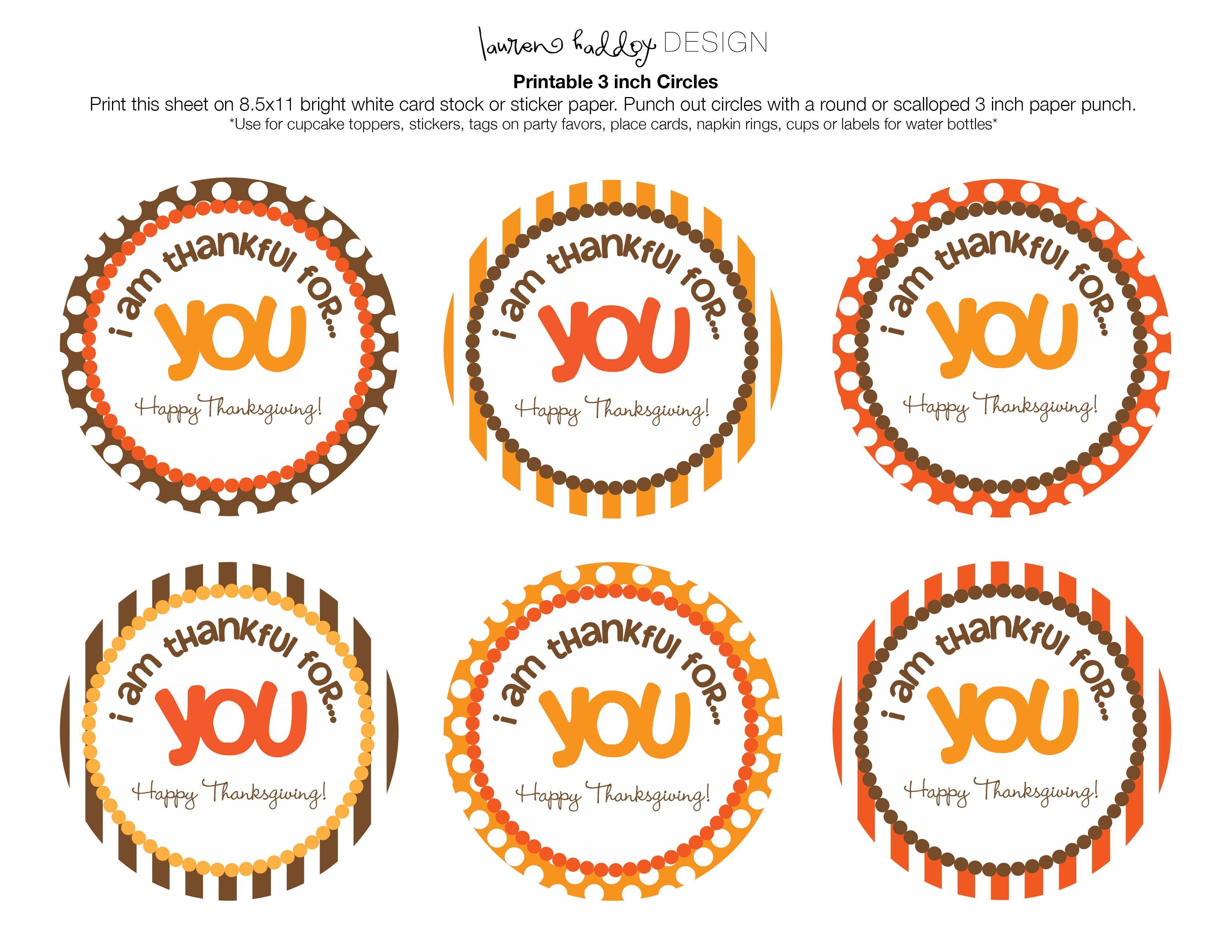 7 Images of Happy Thanksgiving Free Printable Tags