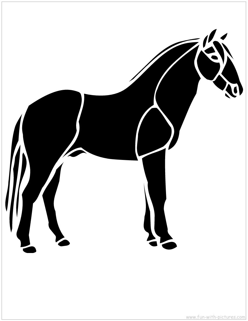 4 Images of Free Printable Horse Stencil