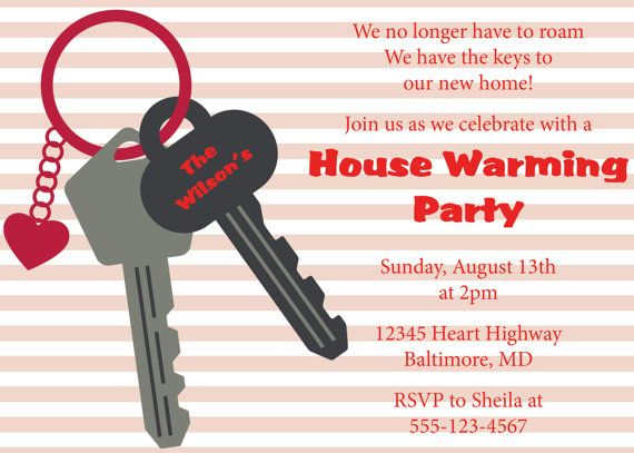 5 Images of Blank Printable House Warming Invitations