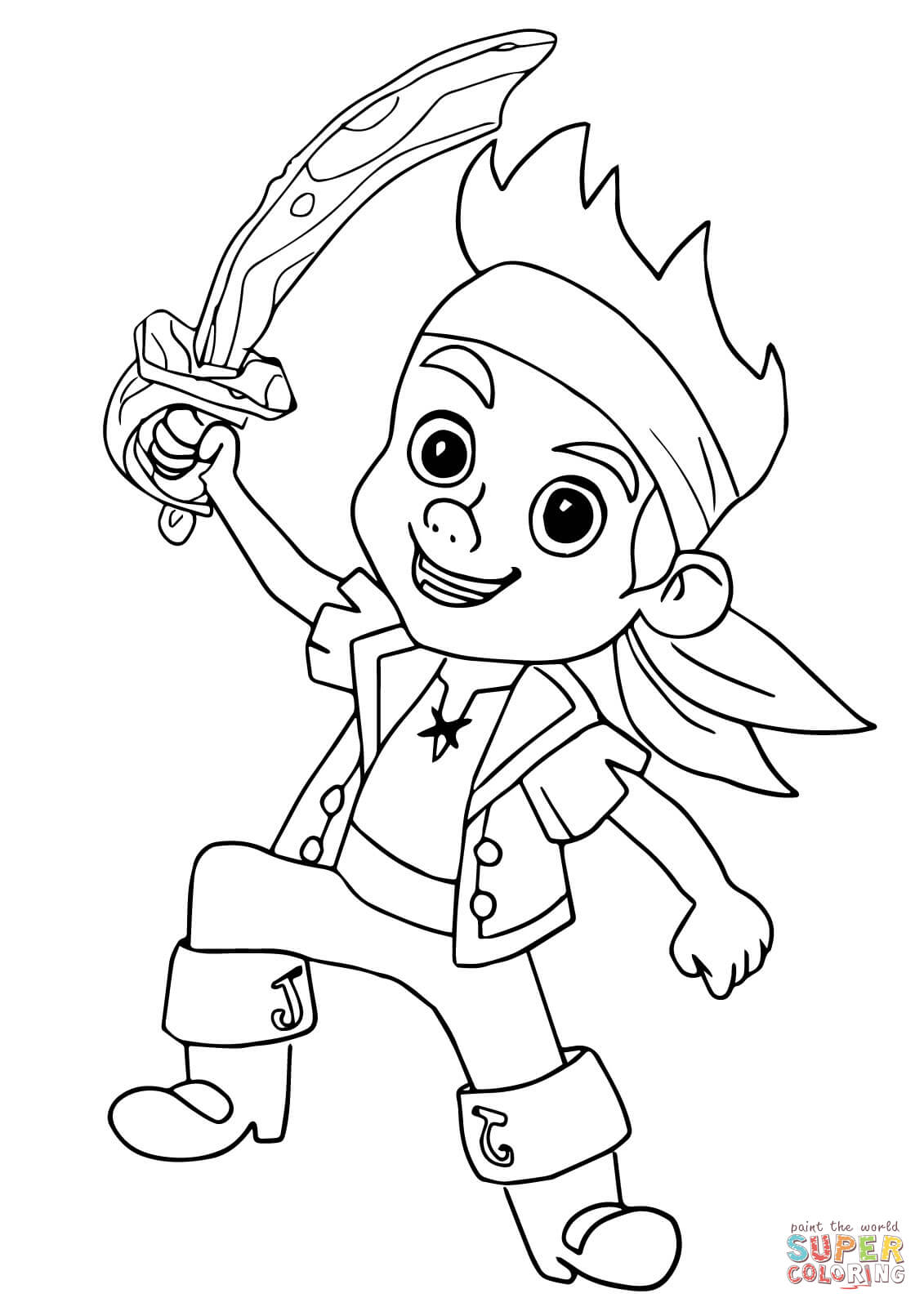 4 Images of Jake The Pirate Printable Coloring Pages