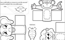 5 Images of Monkey Finger Puppets Printable