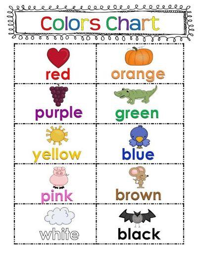 Number Names Worksheets preschool color chart : 4 Best Images of Preschool Color Graph Printable - Printable ...