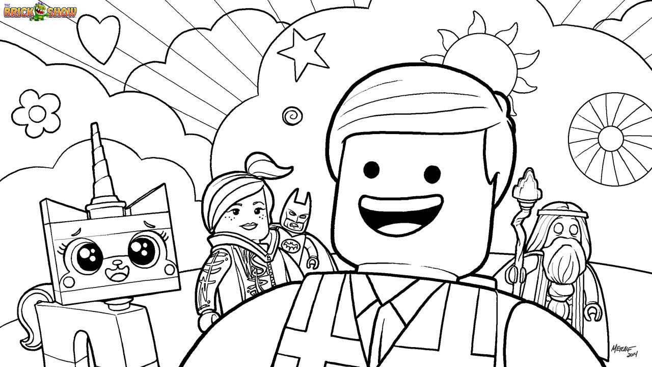 7 Images of Printable LEGO Movie Coloring Pages