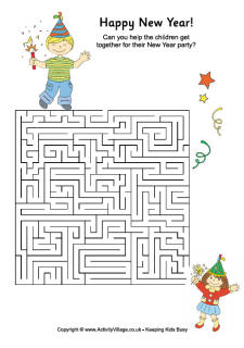 4 Images of New Year's Puzzles Printable