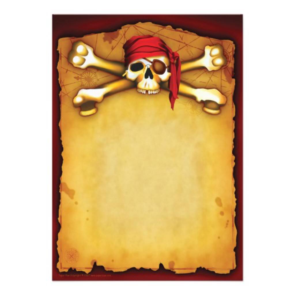 Пиратские приглашения на день рождения своими руками 2