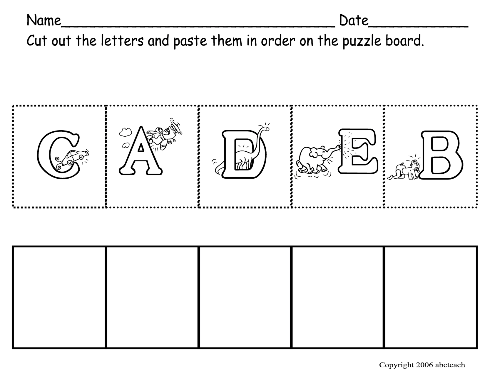 Cut Paste Printable Worksheets : Best images of preschool cut and paste printables
