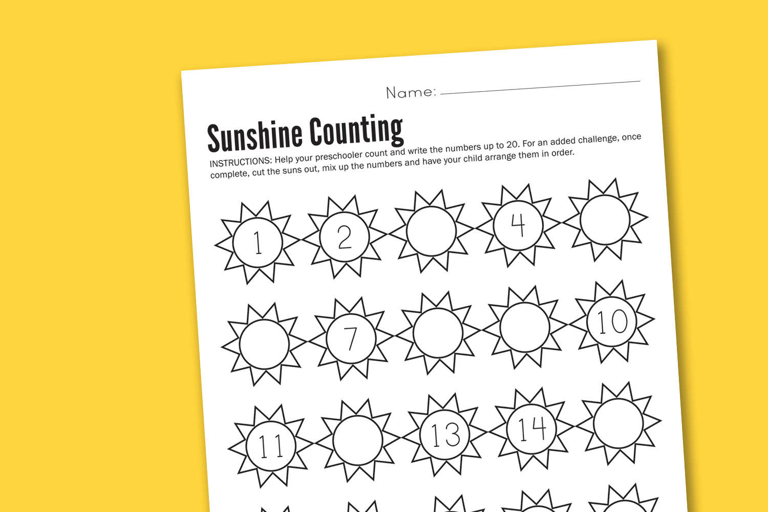Preschool Kindergarten Printable Worksheets : Best images of preschool math counting worksheet