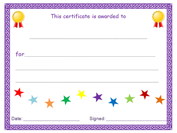 5 Images of Free Printable Award Certificates Blank