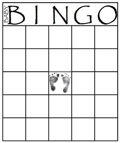 8 Images of Printable Blank Bingo Baby Shower