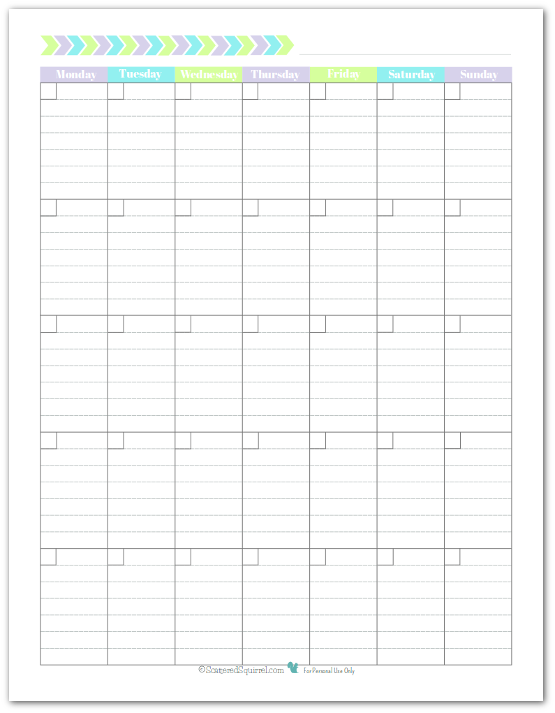 7 best images of full size blank printable calendar