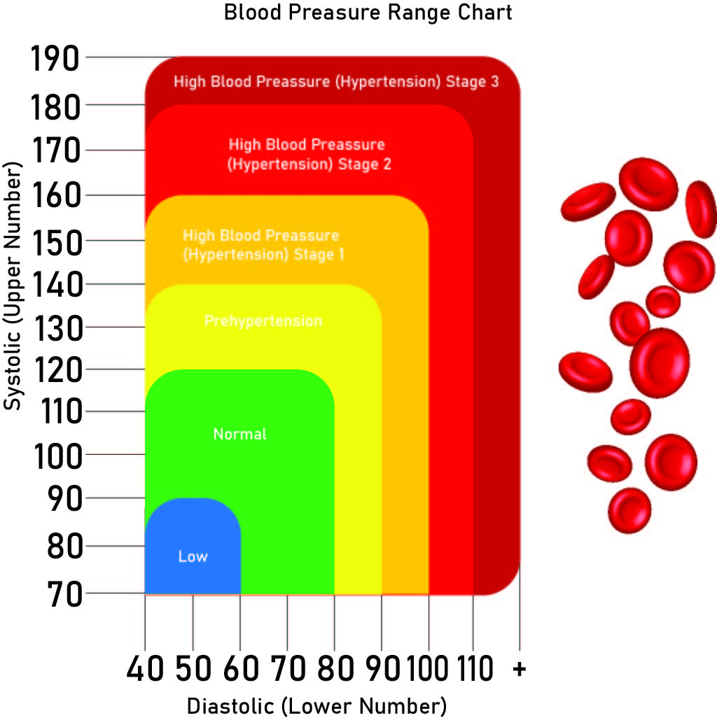 Printable Blood Pressure Range Chart