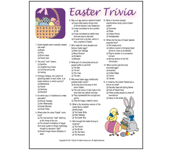 4 Images of Adult Easter Activities Printable