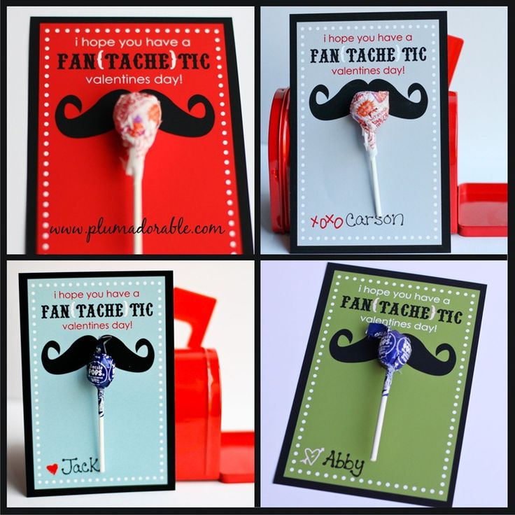 8 Images of Printable Mustache Valentine's Cards
