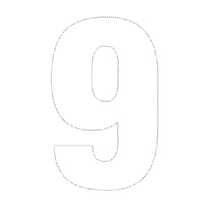 4 Images of Printable Number 9 Outline