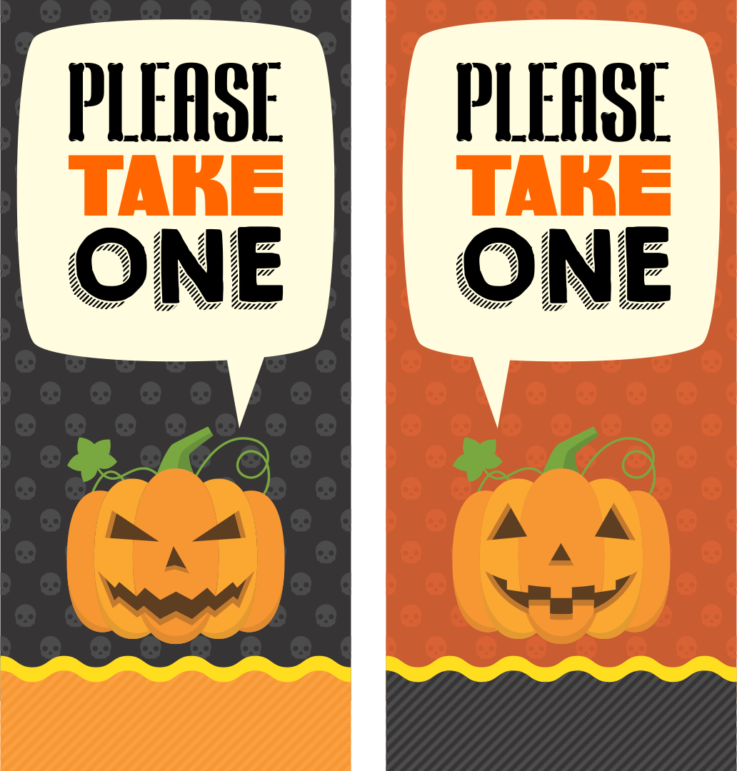 Printable Please Take One Halloween Sign