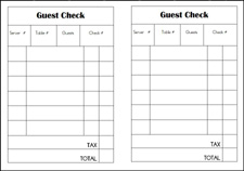 6 Images of Printable Guest Checks For Restaurants