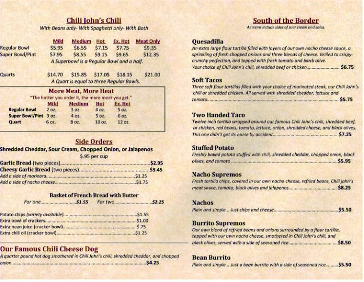 Printable Restaurant Menus Online