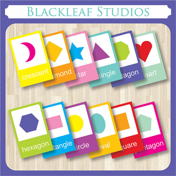Printable Shapes Flash Cards Toddlers