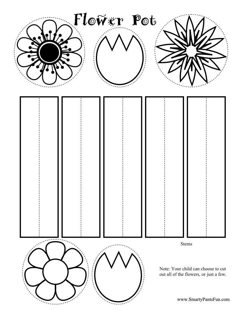 8 Images of Free Printable Spring Flower Crafts
