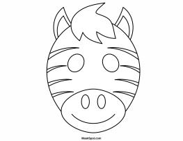 9 Best Images of Printable Animal Masks Zebra - Zebra Face ...