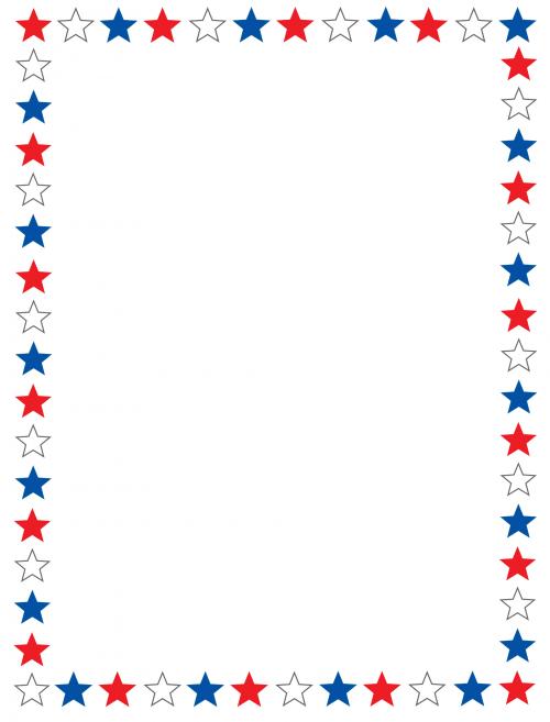 8 Images of Printable Scrapbook Borders Stars