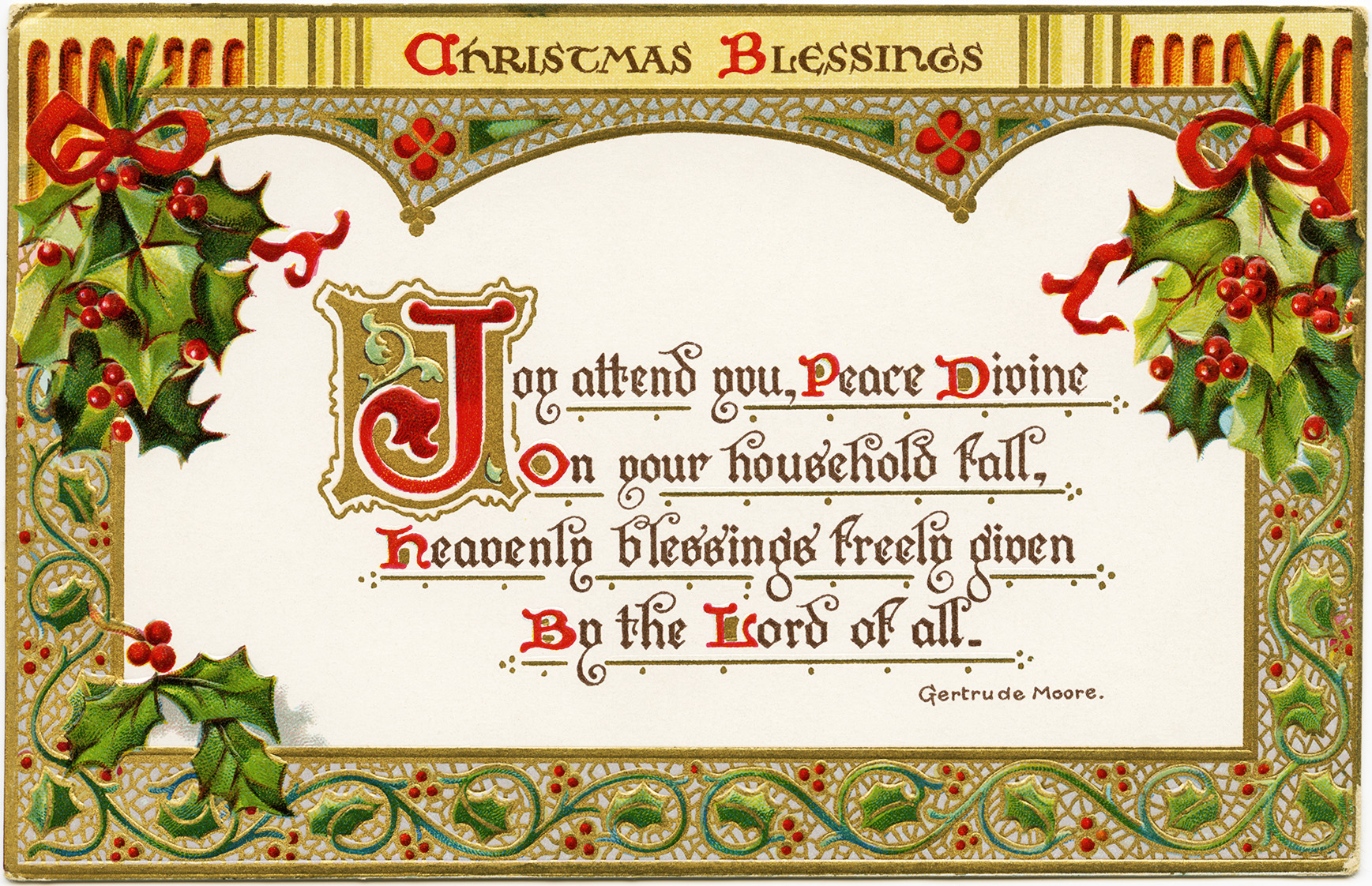 6 Images of Free Printable Christmas Messages