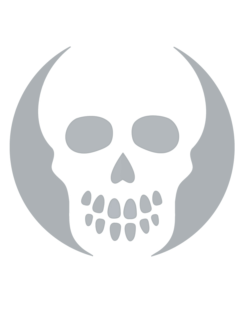 8 best images of free printable skull templates airbrush for Skeleton pumpkin pattern