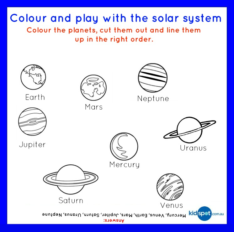 Best Images of Solar System Worksheets Free Printable - Solar ...