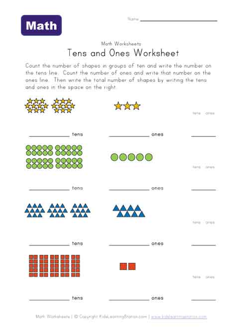 Place Value Worksheets place value worksheets for 1st graders : tens and ones printable worksheets - The Best and Most ...