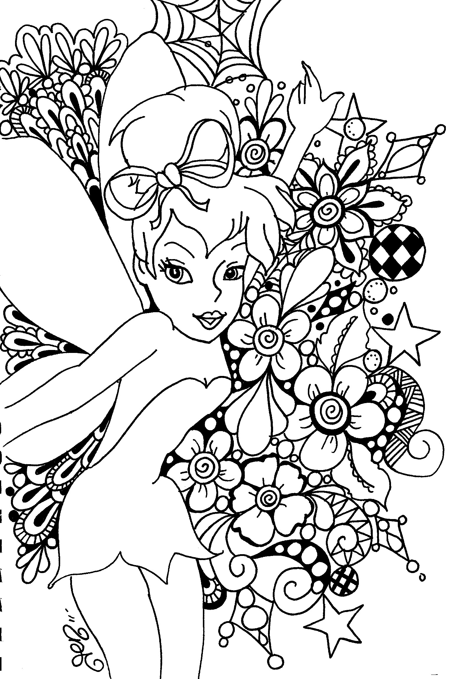 8 Images of Free Printable Tinkerbell Coloring