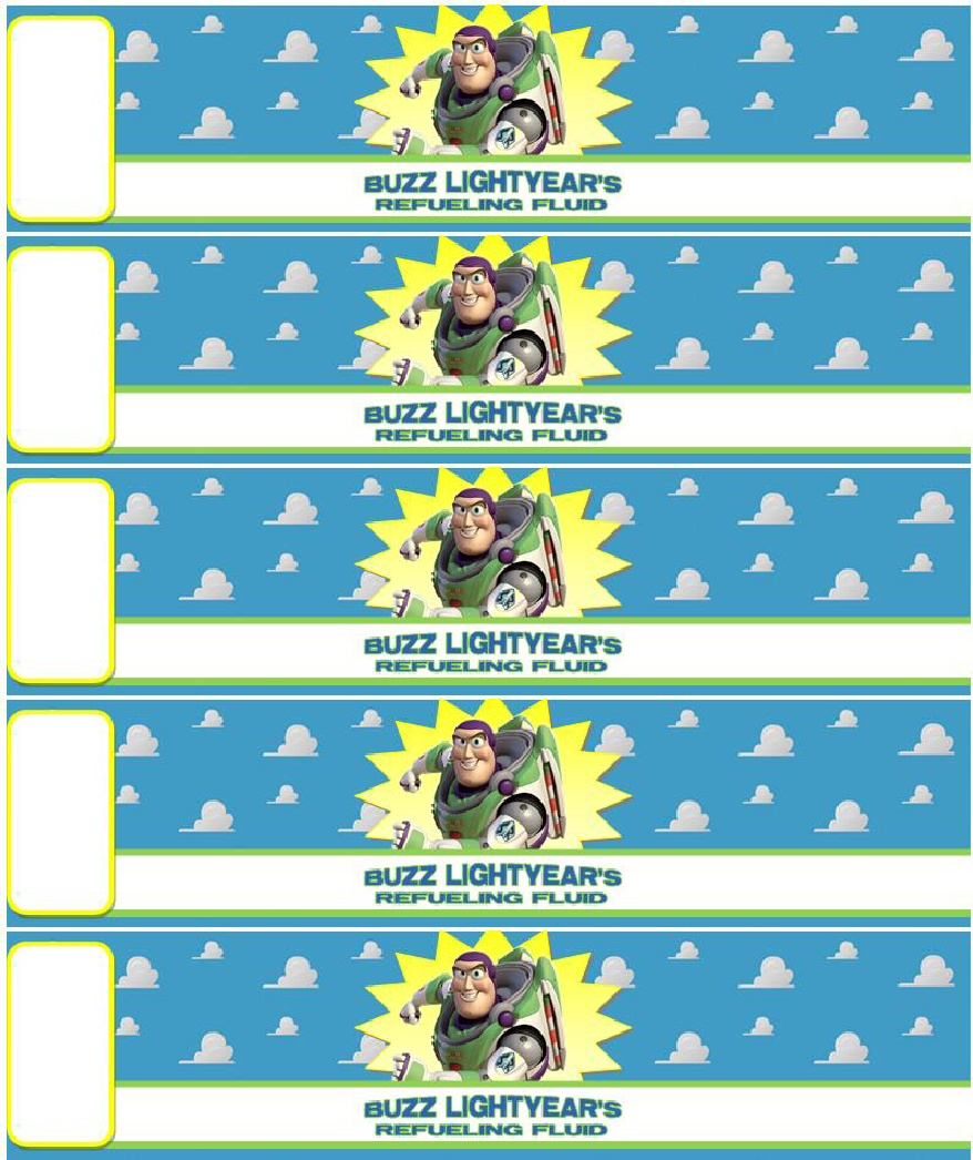 Toy Story Label Free Printable