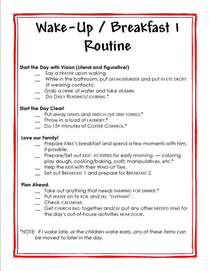 ... Printable, Printable Morning Routine and Printable FlyLady Morning