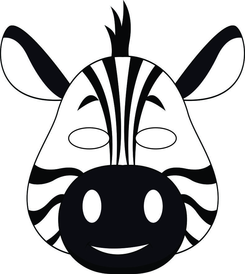 9 Images of Printable Animal Masks Zebra