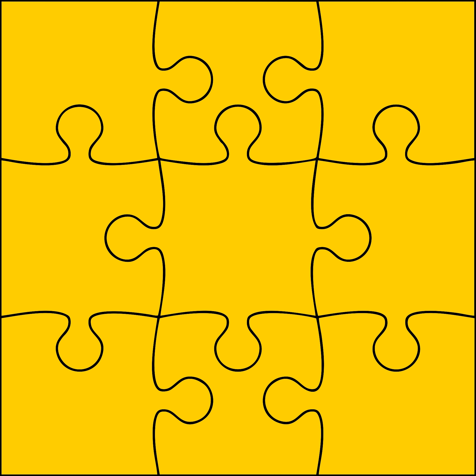 7 Images of 9 Piece Jigsaw Puzzle Template Printable