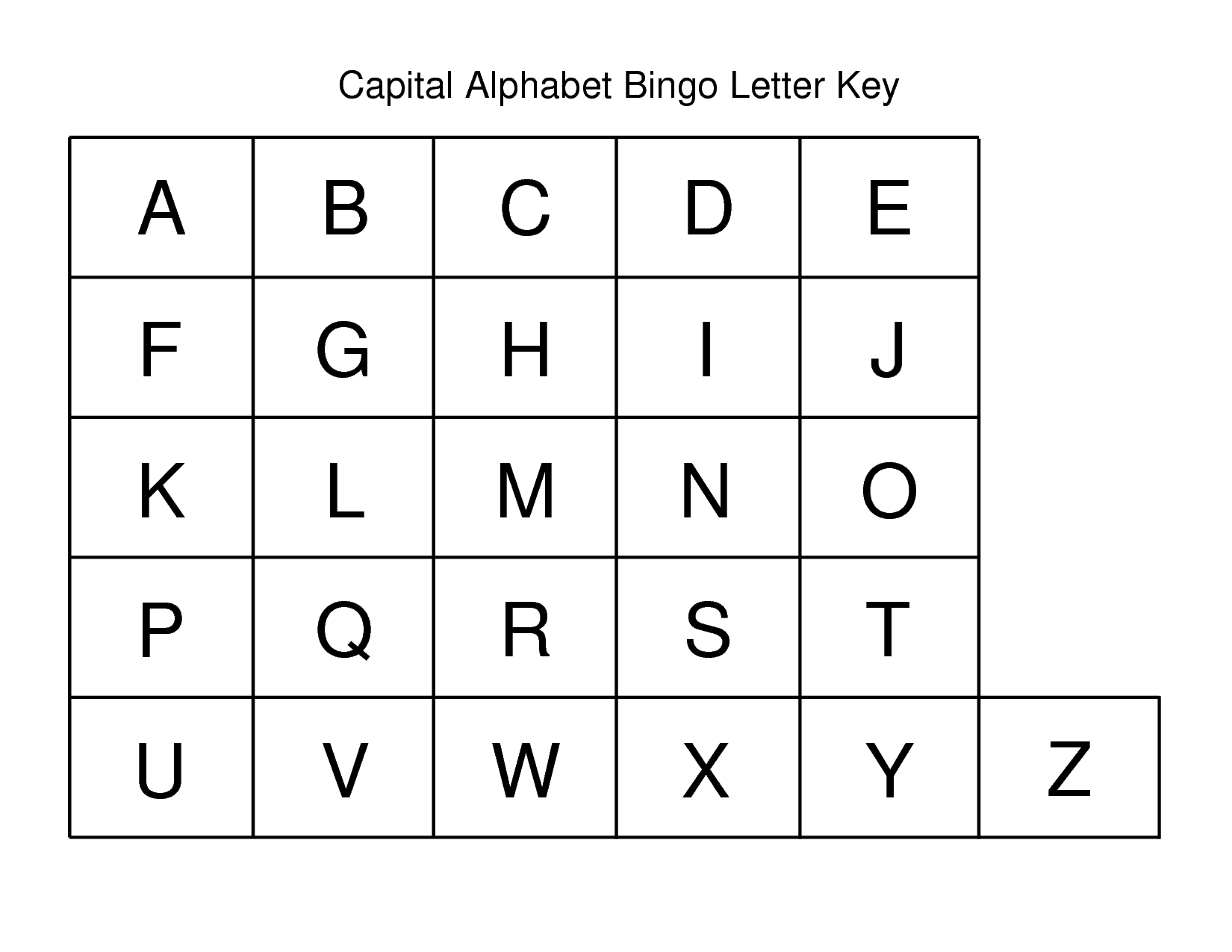 Exo Alphabet Letters