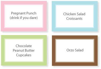 Baby Shower Free Printables Food Labels
