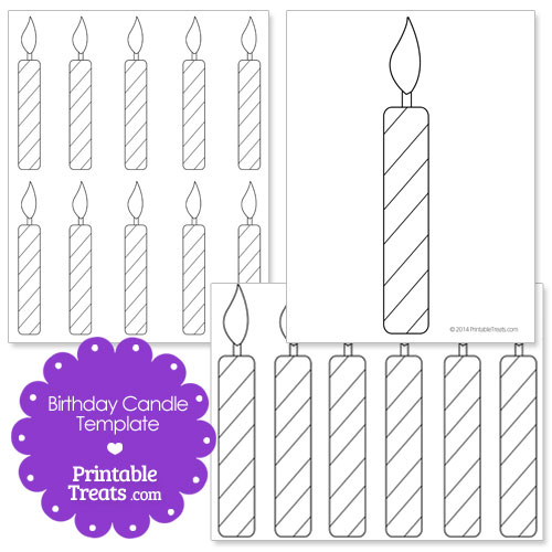 5 Images of Birthday Candles Free Printable Template