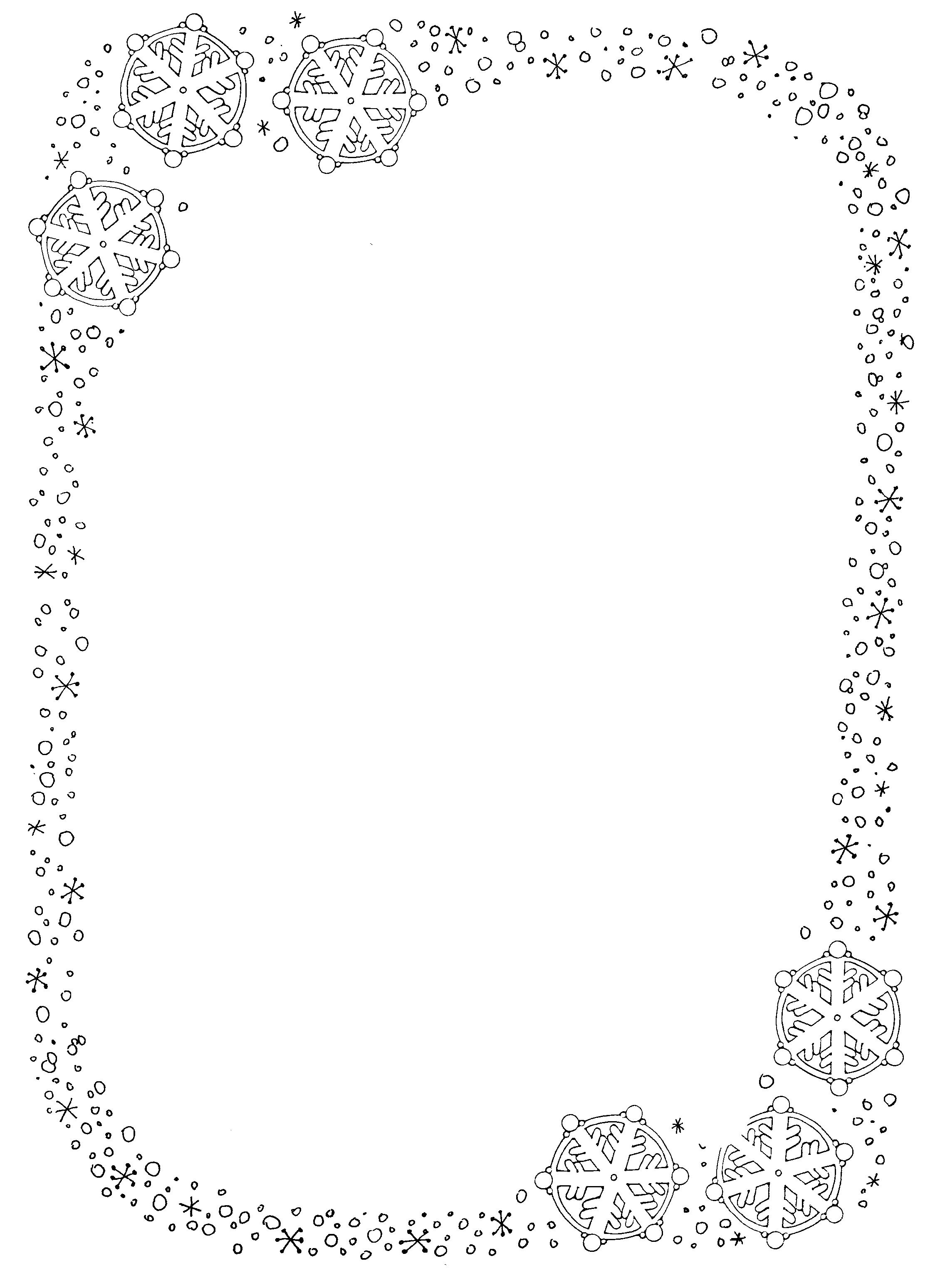 Best Images of Printable Winter Border Clip Art - Snowflake ...