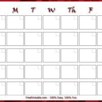 Blank Monthly Calendar Printable