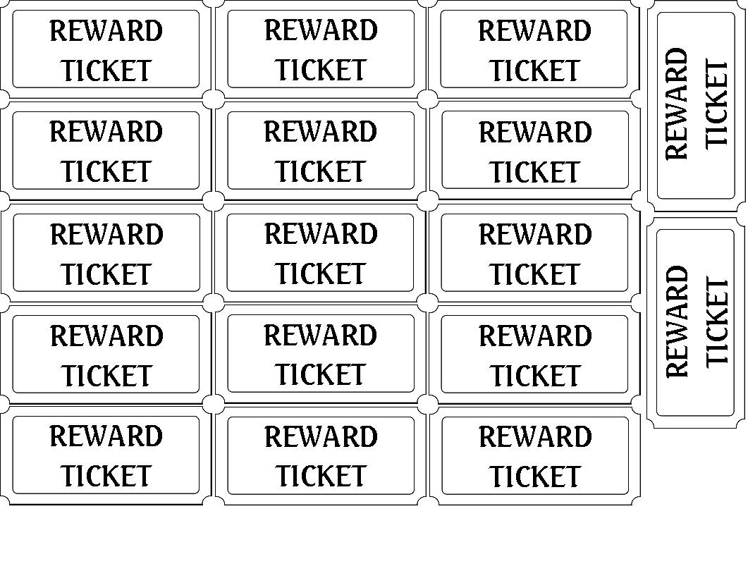Blank Tickets Templates, Blank Concert Ticket Template Free & Blank ...