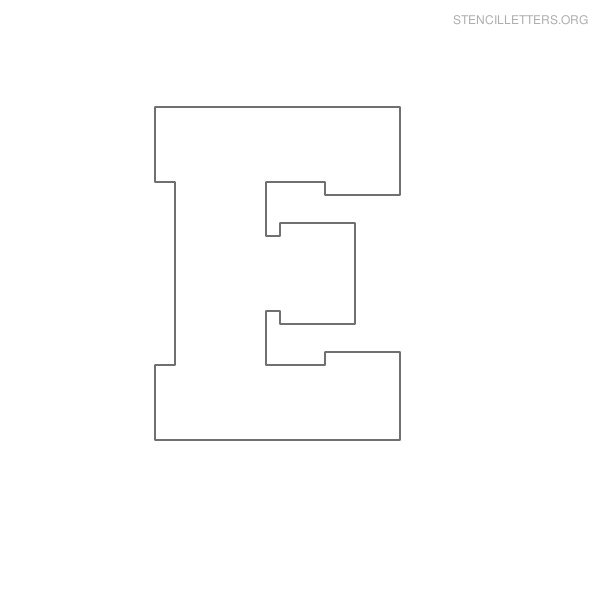 6 Images of Free Printable Letter Stencils E
