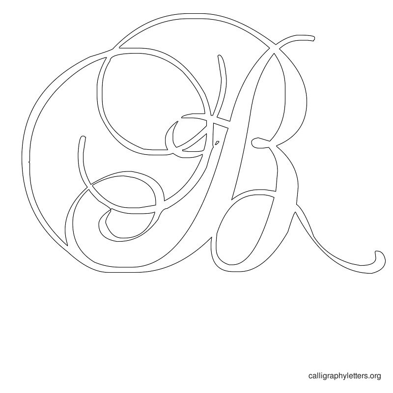 Calligraphy Letter Stencils Printable