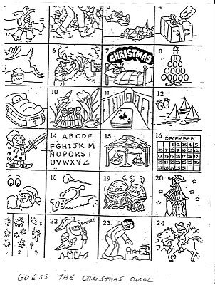 7 Images of Guess The Christmas Carol Printable