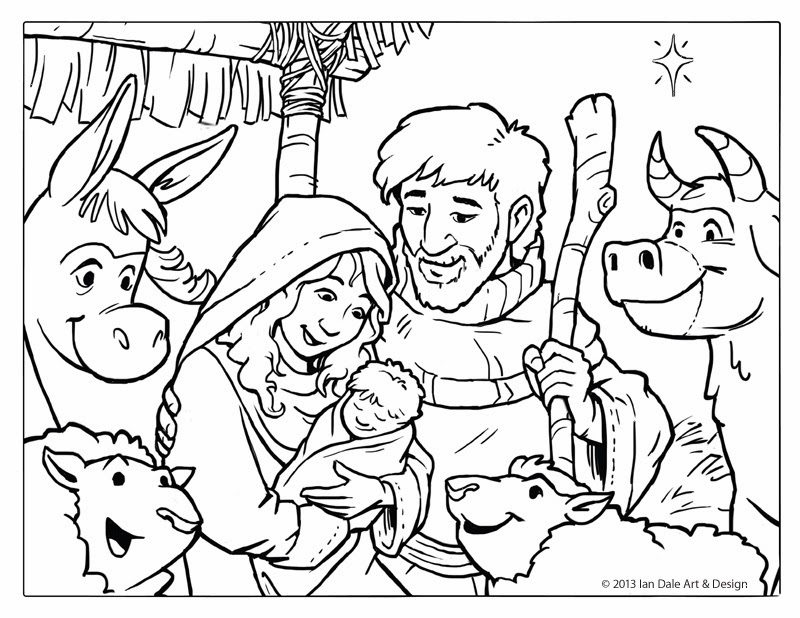 4 Images of Free Printable Nativity Coloring Pages