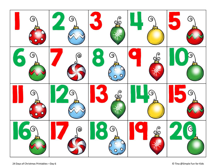 ... 100, Christmas Number Cards 1 20 and Large Printable Numbers 1 31